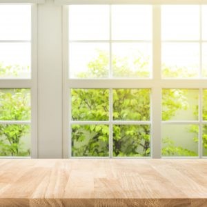 Counter top double glazed windows