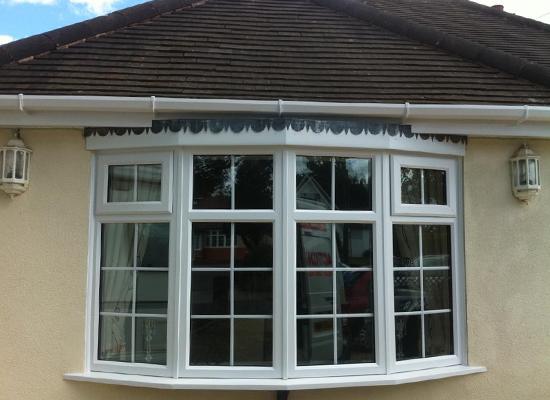 Window with double glazing