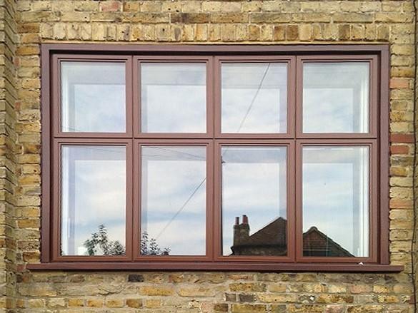 brown aluminium windows